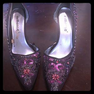 Purple beaded heels 😍